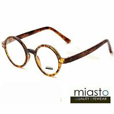 "MIASTO RETRO ROUND ""LENNON/ POTTER"" SMALL READER READING GLASSES +1.50 BROWN"