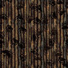 Elk Mountain Brown Bear paw Tree Bark stripe print By the yard Cotton print