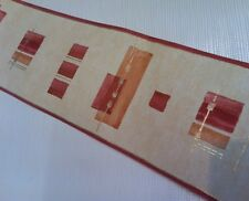 Arthouse Opera Wallpaper Border Cream Red Terracotta & Gold Squares