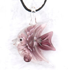 fashion 1pc lovely fish Murano Lampwork Glass bead pendant Necklace p864_4