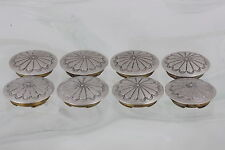 STERLING SILVER SET OF 8 CONCHO DESIGN BUTTONS 925 FINE 6351