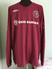 OFFICIAL HEARTS HOME L/S FOOTBALL SHIRT BY UMBRO SIZE GB ADULT X-LARGE