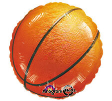 """Basketball 17"""" Foil Balloon Double Sided 3 Pack Helium. Fast Shipping!"""