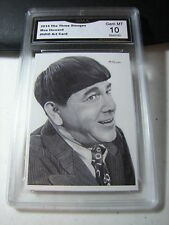 MOE HOWARD THE THREE 3 STOOGES 2015 CHRONICLES ART CARD # NNO GRADED 10 A L@@@K