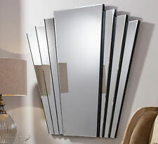 "Gatsby Extra Large Vintage Art Deco Style Retro Overmantle Wall Mirror 39"" x 39"""