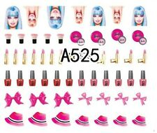 Nail Art Decals Transfers Stickers Barbie (A-525)