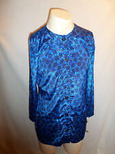 Debra Martin Rare Blues Floral Tunic Size 6 NWT New With Tags Maine Dress Shop