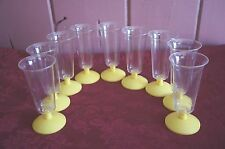 "VTG. PLASTIC CARVEL ICE CREAM CUPS: SET OF 9: MARKED ""CARVEL YONKERS,NY"""