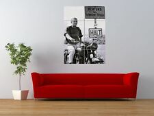 Movie GREAT ESCAPE Steve McQueen fin Scène Géant ART PRINT POSTER panneau nor0554