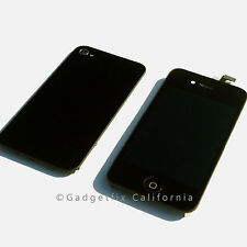 Front Housing LCD Display Touch Digitizer Screen + Back Cover Door for Iphone 4S