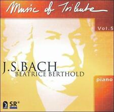 Beatrice Berthold-V 5: Music Of Tribute - J.S. B CD NEW