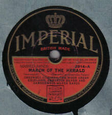 MASSED BANDS - March Of The Herald 78 rpm disc