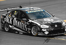 Todd Kelly SIGNED 12x8,Jack Daniels Kelly Racing Holden Commodore , 2012.