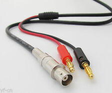 1pc 1M/3.3ft BNC Female Jack to Dual Gold 4mm Banana Plug Male Test Cable