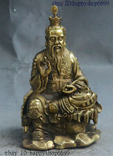 "7"" China Taoism Immortal Brass Taoist priest Tai shang Lao jun Lao-tzu Statue"