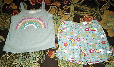 Baby Girl Miniwear Outfit w/ Shorts & Tank Top Size 6-9 Months