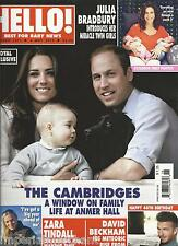 Hello magazine Kate Middleton Prince William and George David Beckham          .