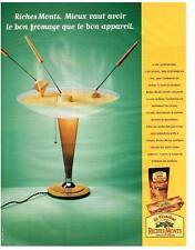 PUBLICITE  1999   RICHEMONTS  fromage à fondue