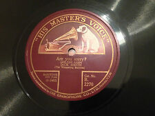 "JACK SMITH ""Are You Sorry?""/ ""Some Other Bird Whistled A Tune"" 78rpm 10"" 1926 G+"