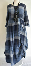 FAB GERMAN ZEDD.PLUS quirky/lagenlook BLUE CHECK  parachute dress L/XL