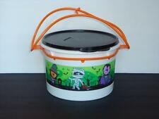 Tupperware Holiday Halloween Spooky Candy Container Canister & Carriolier New