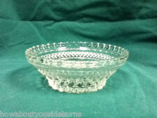 Vintage small glass serving bowl or candy dish star design dining table #315
