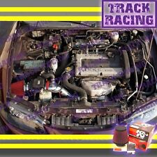 95-99 MITSUBISHI ECLIPSE GST GSX SPYDER TALON 2.0L TURBO AIR INTAKE KIT +K&N Red
