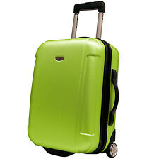 "Travelers Choice Green Freedom 21"" Lightweight Carry-on Rolling Luggage Suitcase"