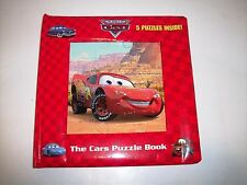 DISNEY PIXAR CARS PUZZLE BOOK WITH 5 PUZZLES COMPLETE
