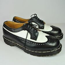 Mens Dr Martens 3989 5 Eye LaceUp Brogue Bex Sole Black amp White Smooth 398996
