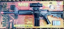 WAR INC M4B AIR SOFT RIFLE 6 MM BB AEG GUN 160 FPS SEMI & FULL AUTO MOCK SCOPE