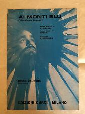 SPARTITO MUSICALE AI MONTI BLU DEMIS ROUSSOS  BERGNAM PIKER KOULOURIS 1971