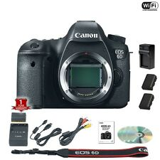 Canon EOS 6D DSLR Camera Body + 2 Extra Batteries and Charger