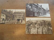 3 Vtg Postcards Real B/W photo Lincoln Lincolnshire JEWS HOUSE CASTLE GLORY HOLE