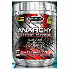 MuscleTech Anarchy Pre-Workout Water Melon Powder For Energy And Focus 150 Gram