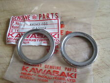 KAWASAKI NOS FORK COVER LOWER CHROME WASHER SET F3 G4 G5  44043-035