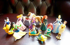 Disney Princess Cake Toppers 12 Figurines Plus A Free Book and Playmat - New