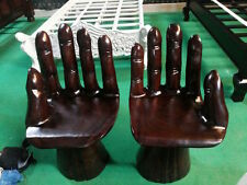 100% solid wood .... Hand carved .... 2 x designer  Garden chairs