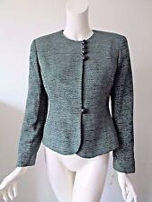 NEW Vintage Christian Dior Gray-Green Tweed Jacket Blazer Women's Size 4