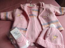New Lovely Clayeux  Full outfit, Dress/coat/socks and  hat. age approx 3/6 month