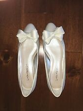 Caparros Ballet Flat with 3D Bow Detail Size 8 Penelope Ivory Bridal Shoes NIB