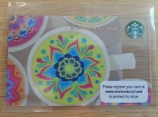 India Starbucks Gift Card 2012 Diwali Deepawali Brand New Unswiped MINT Mandala
