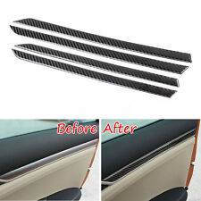 4 pcs Real Carbon Fiber Interior Inner Door Decoration Cover Trim For Civic 2016
