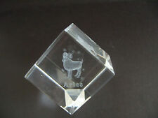 Aries star signe laser crystal cube