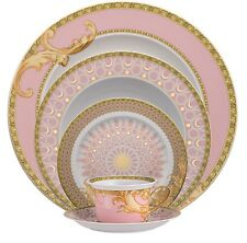VERSACE BYZANTINE MEDUSA DINNER PLACE SETTING OF 5. PLATE CUP NEW IN BOX $700