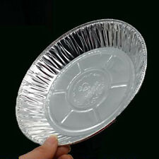 50 Aluminum Tin Foil Baking Pie Flan Dish Plate Disposable Party Bowl Tray New