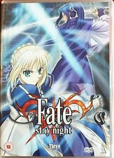 FATE STAY NIGHT. THREE. ANIME.. DVD.  EXCELLENT CONDITION.  Region 2.
