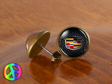 Mens Stud Earrings Ear Studs Cadillac Car Vintage Antique Jewelry Gift Gifts