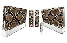 High quality vinyl sticker decal set for Nintendo Wii console-Snake skin style
