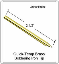 "GuitarTechs QUICK-TEMP Brass Soldering Iron Conical Tip Pickup Wire 1/4"" Dia 6mm"